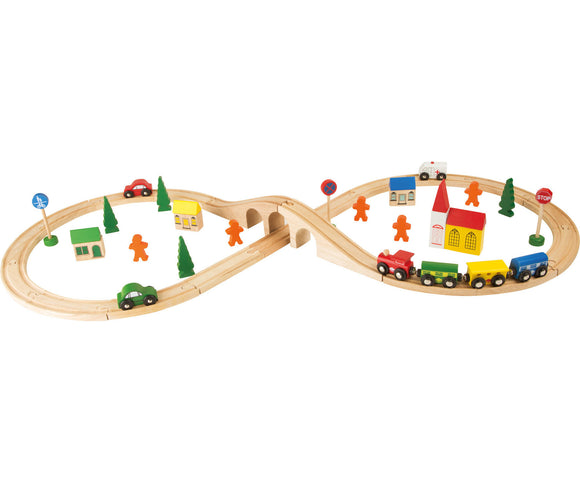Wooden Railway - 51pcs