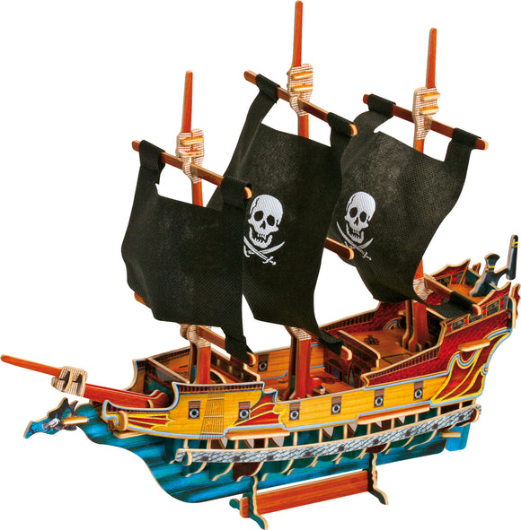 3D Puzzle Pirate Ship - 89 pcs