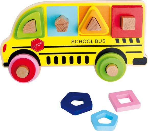 Plug Puzzle Shapes School Bus
