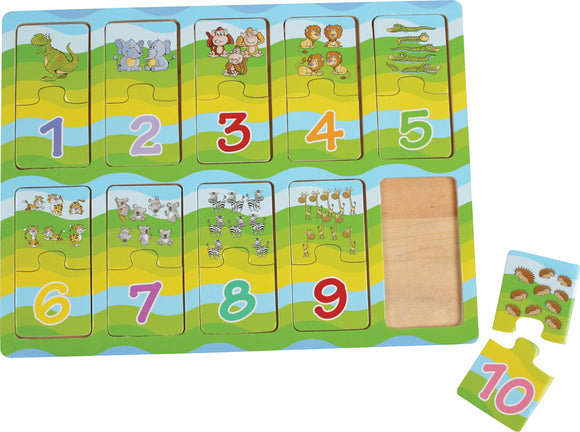 Puzzle Learning Numbers with Animals