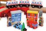 "Wooden Railway ""Port"" -100pcs"