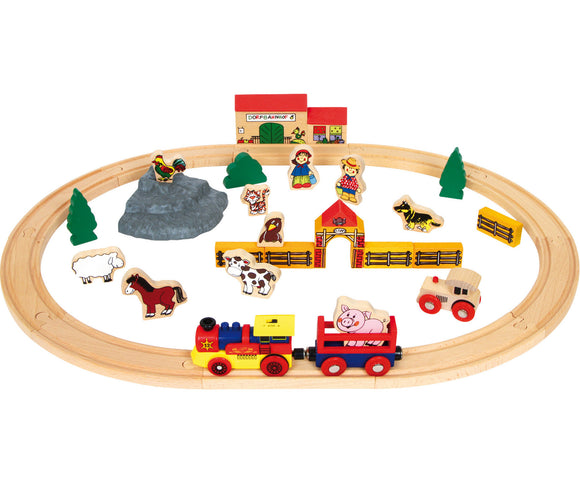 "Wooden Railway ""Farm"" - 40pcs"
