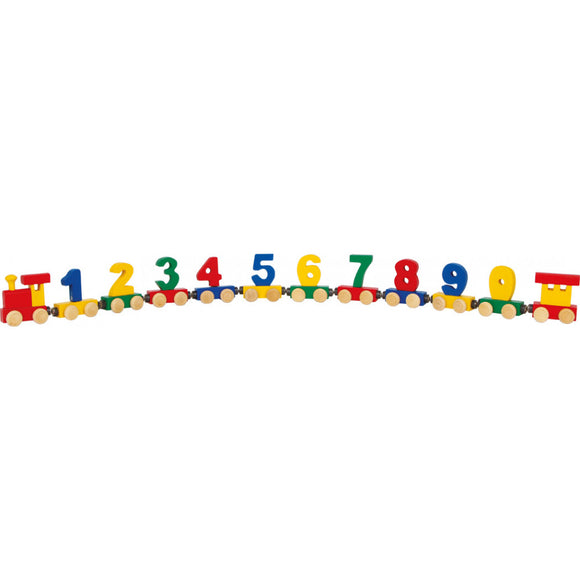Wooden Number Train with Magnets