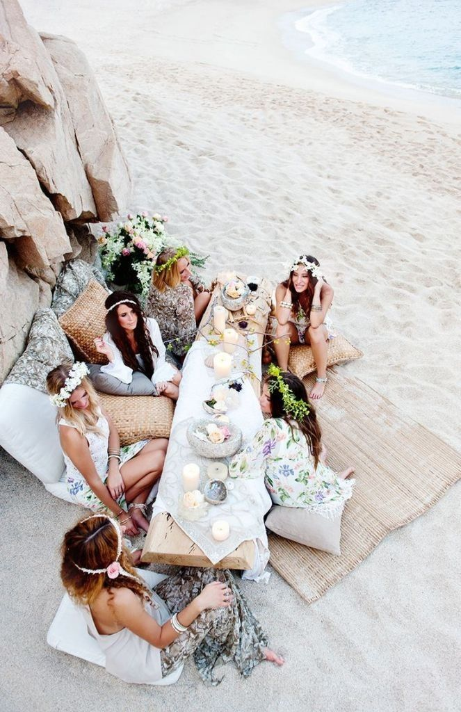 BOHO BEACH WEDDING INSPIRATIONS  - IDEAS FOR A BOHO WEDDING AT BEACHSIDE