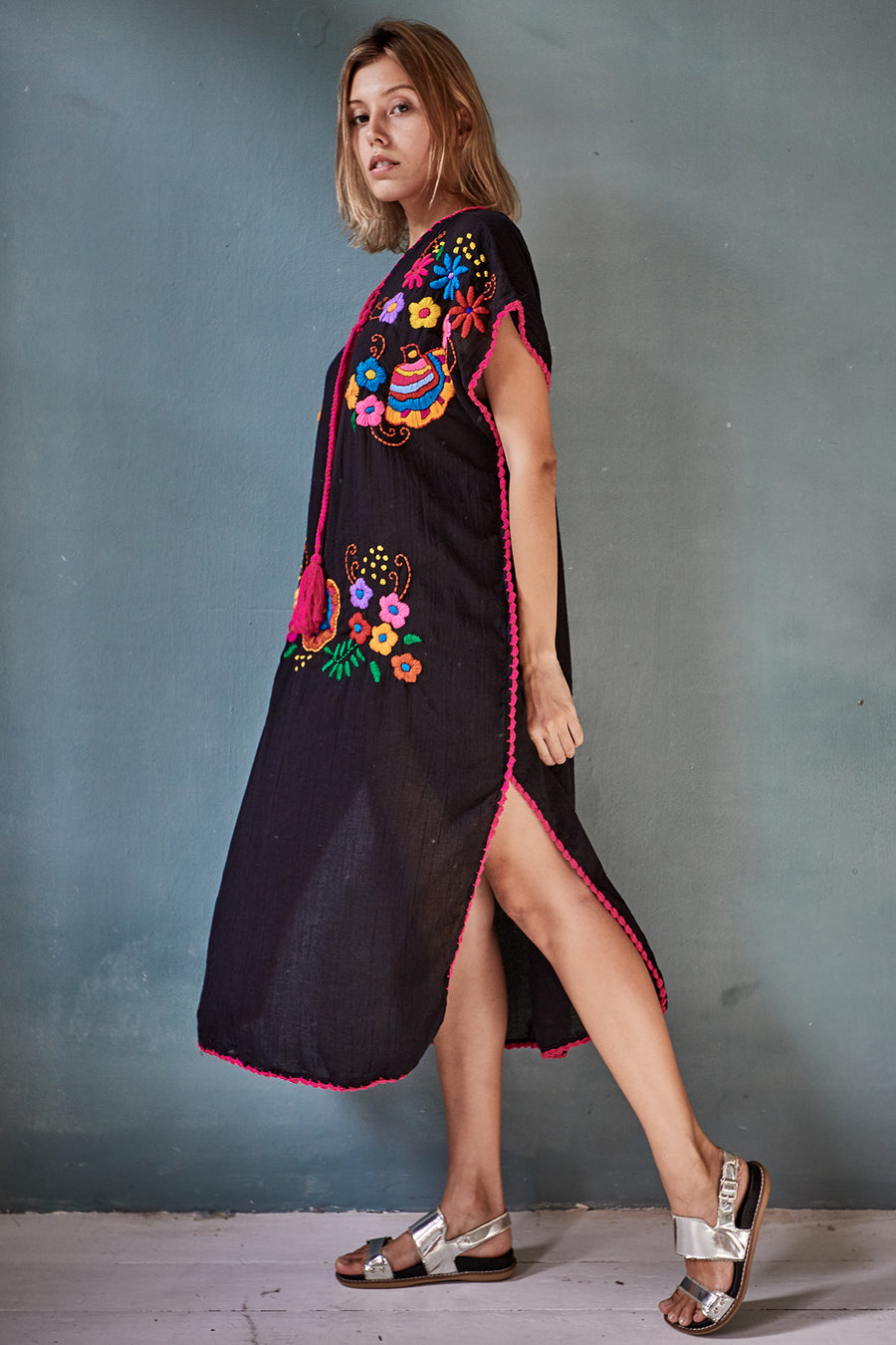 Embroidered Kaftan Dress Nova