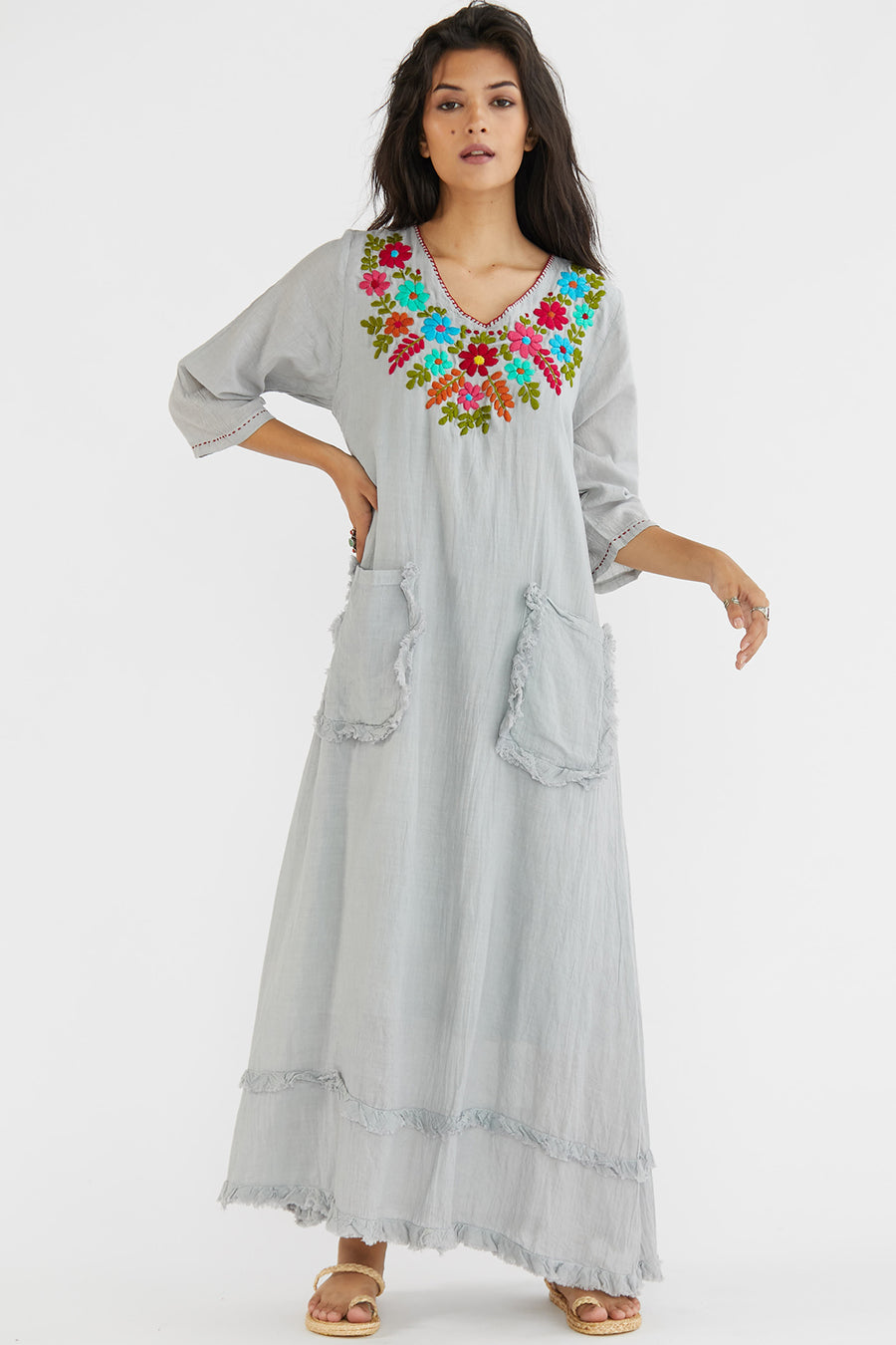 Embroidered Dress Kaftan Alice  K