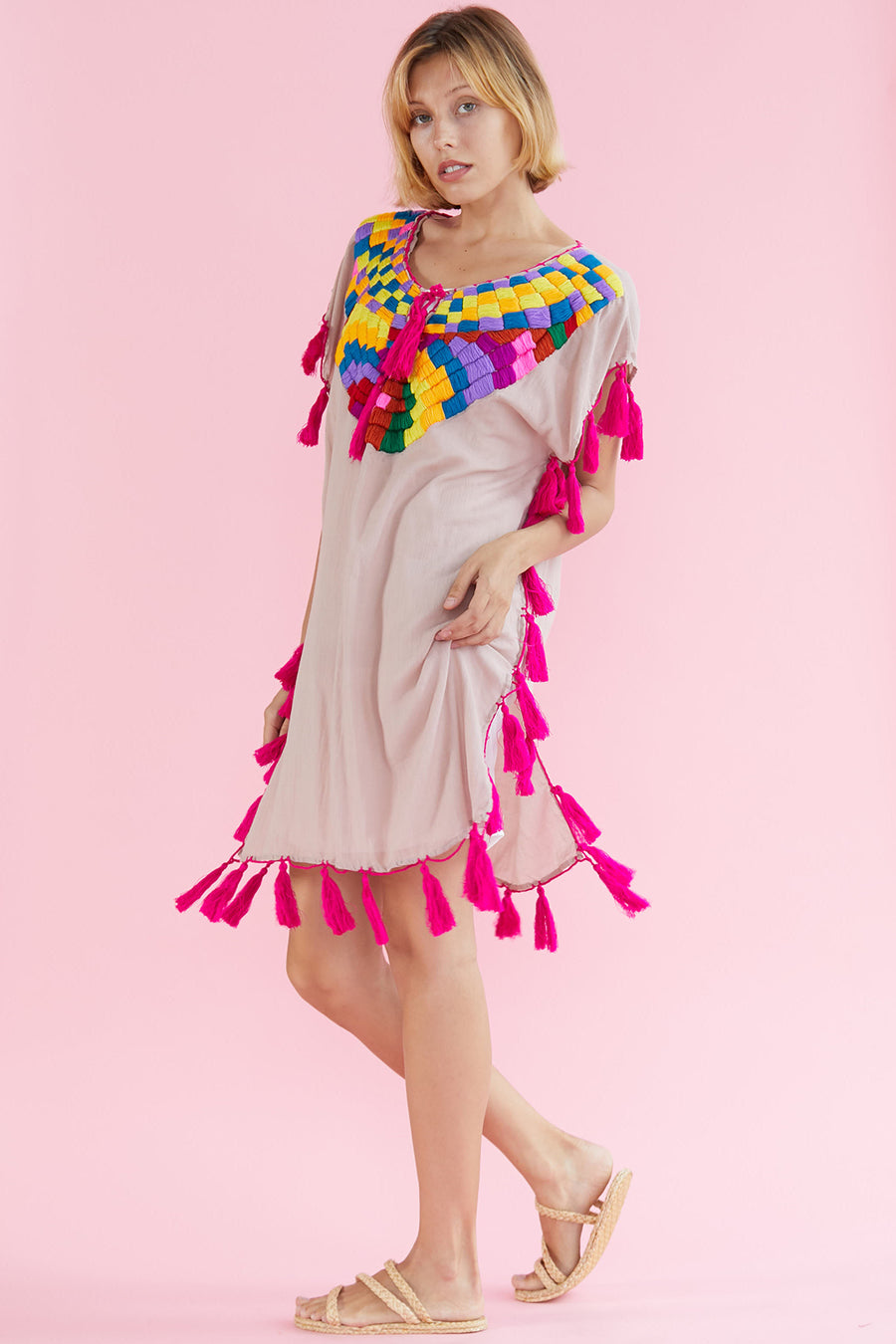 Embroidered Dress Kaftan Audrie S.