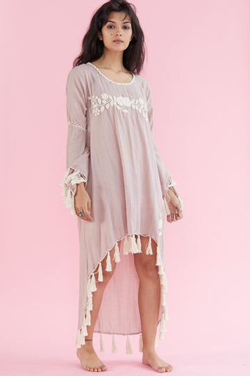 Embroidered Tassel Kaftan Rie