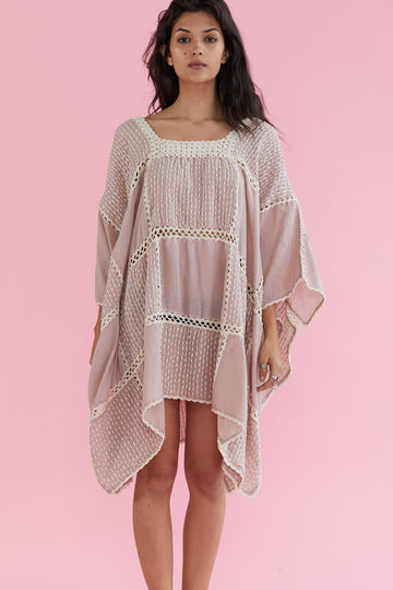 Embroidered Crochet Kaftan Vola