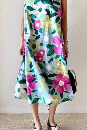 Bohemian Flower Garden Dress Clover