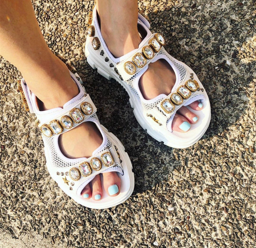 Take Me To Amsterdam Summer Rhinestone Sandals