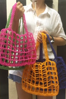 Beaded Shopper Tote Trine