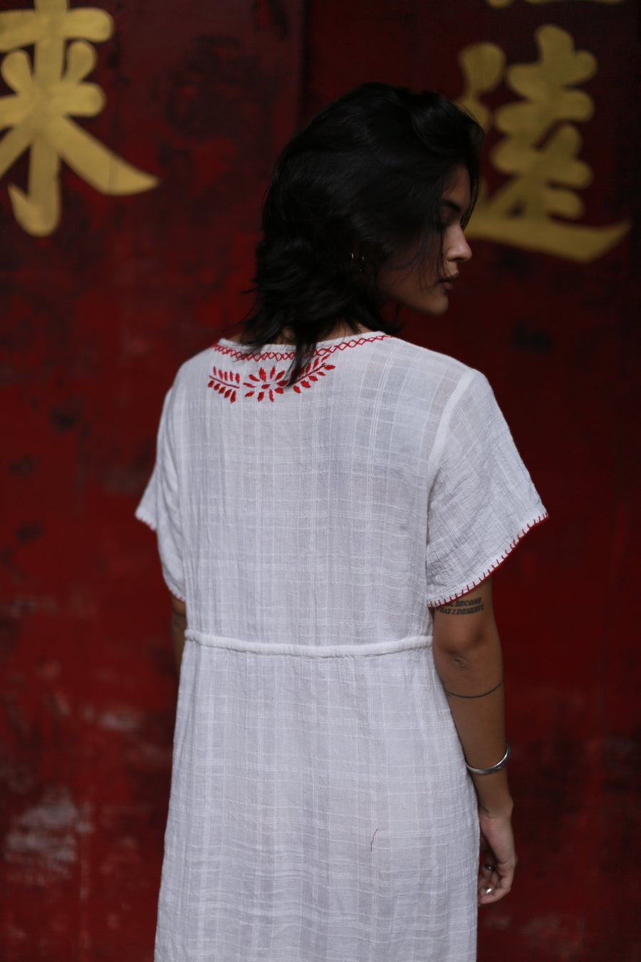 Embroidered Dress Andine