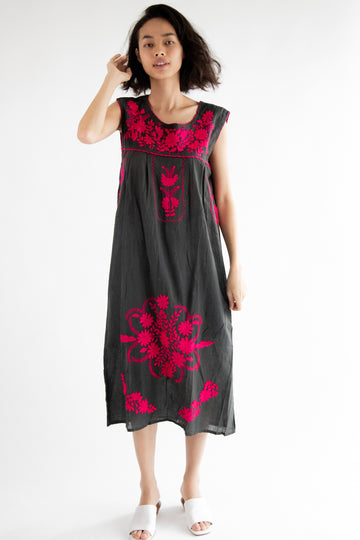 Hand Embroidered Boho Dress Helen