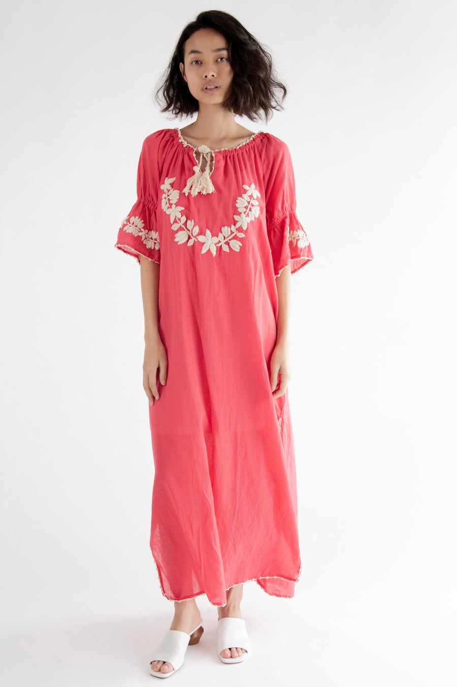 Boho Chic Embroidered Kaftan Dress Cives