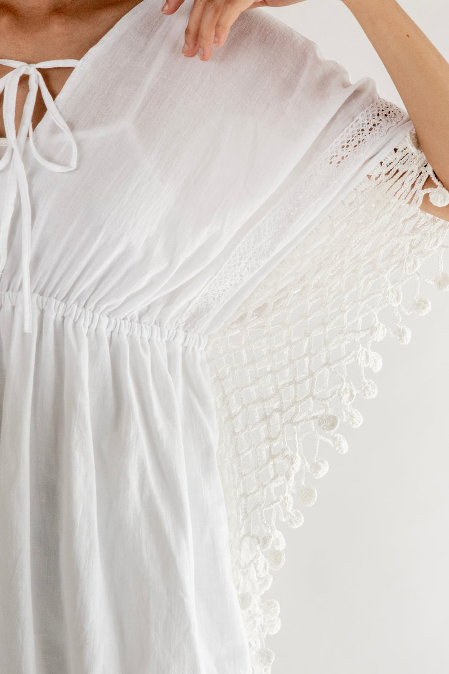 Bohemian Crochet Sleeve Details Dress Bohan