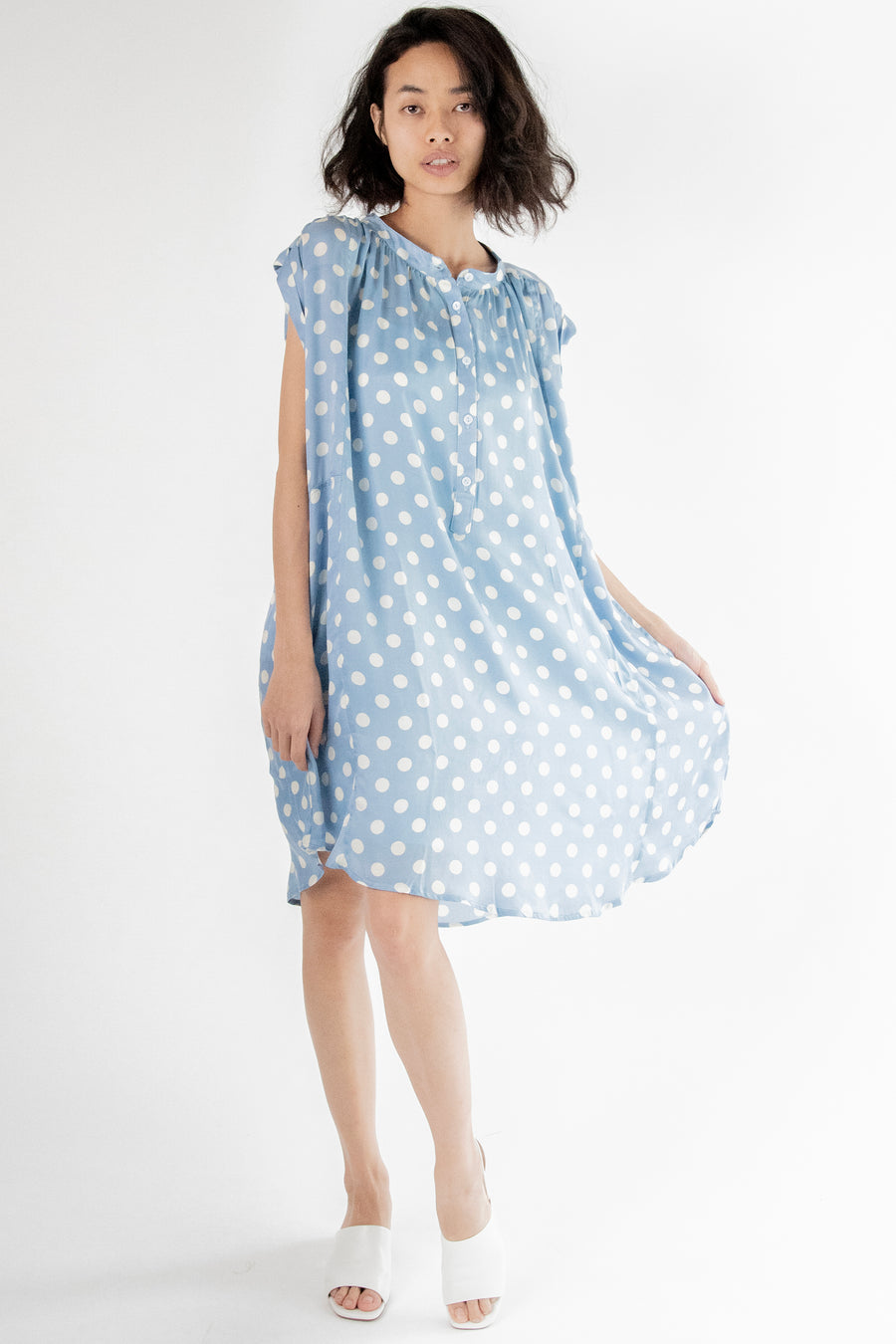 Amanda Modal Silk Polka Dot Dress