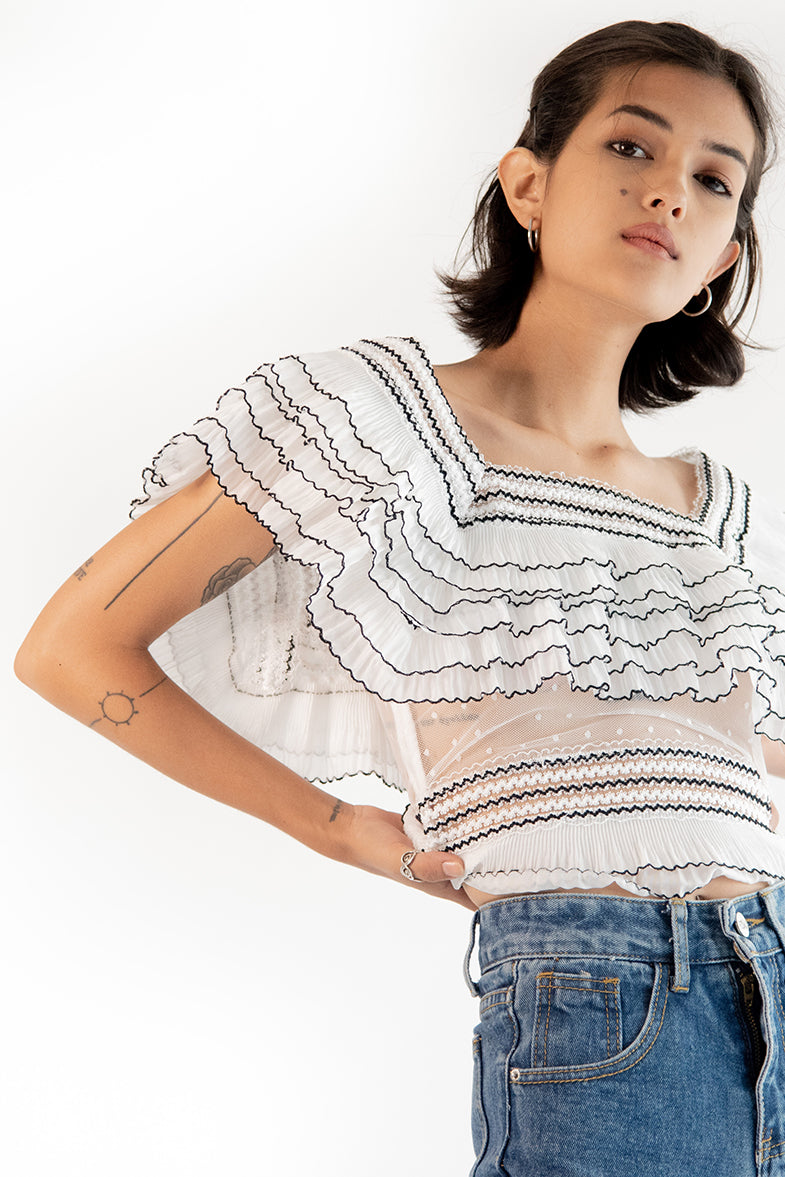 Layered Lace Top Zora