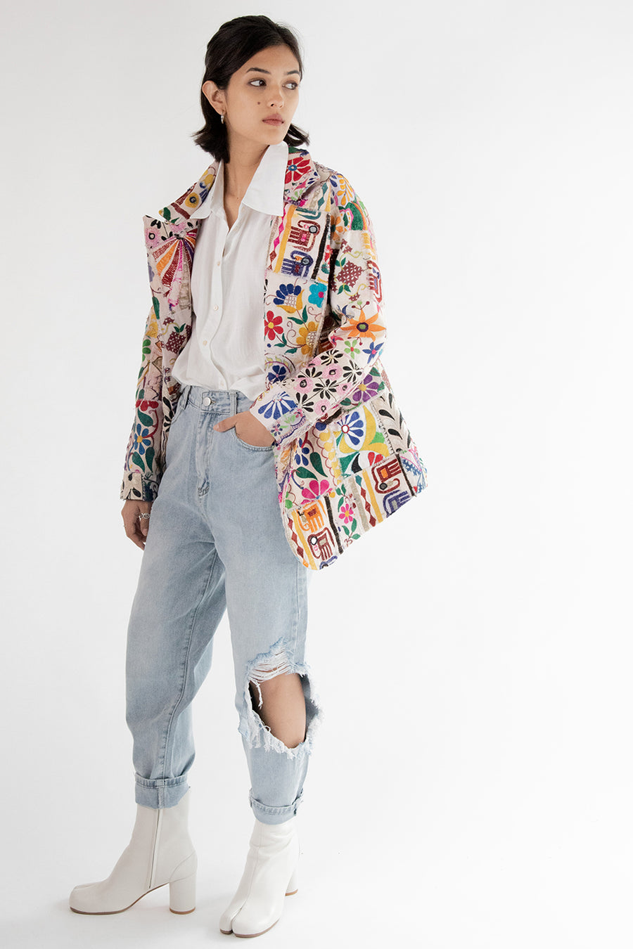 Hand Embroidered Patchwork Jacket Frida