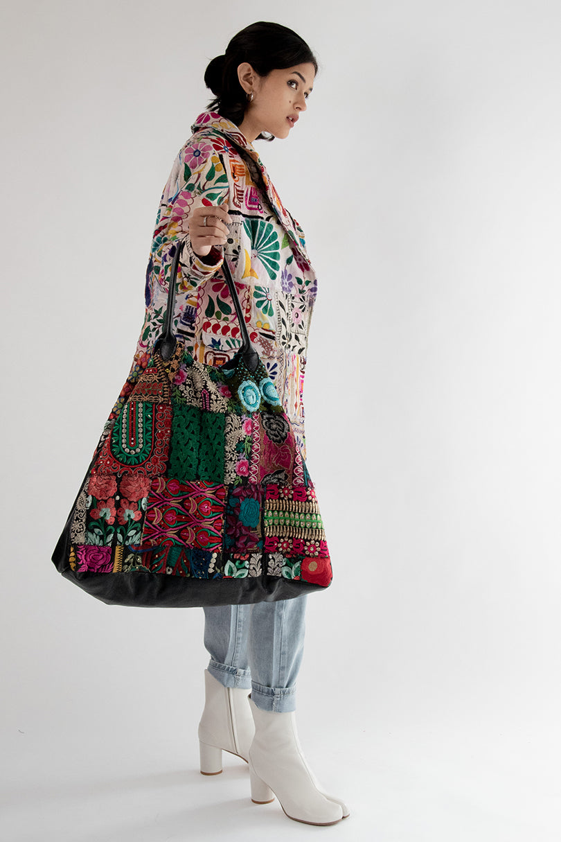 Embroidered Patchwork Bag Damia