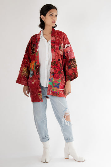 Embroidered Patchwork KIMONO MOMO FREE PEOPLE