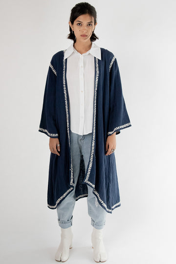 Embroidered Kaftan Coat Miki