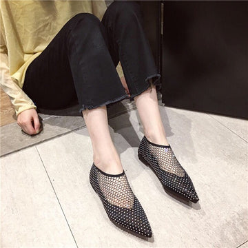 Net Perforated Booties Rinana