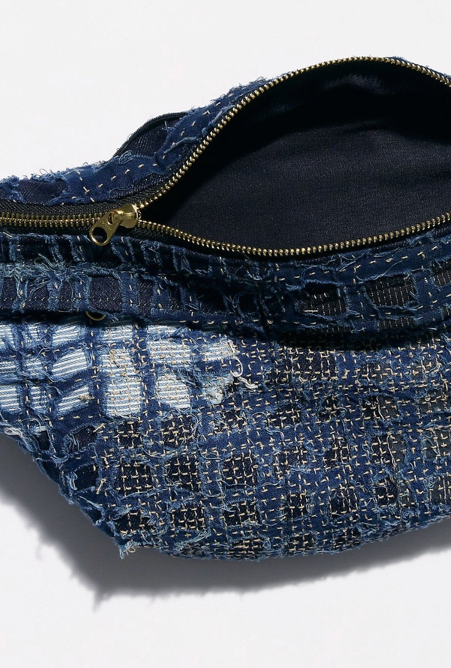 Indigo Patchwork Belt Bag