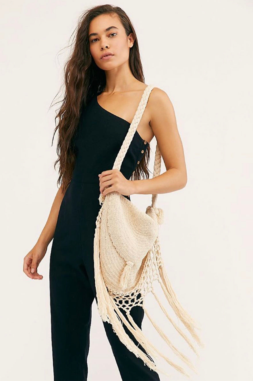 Wind Whispers Macrame Shoulder Bag