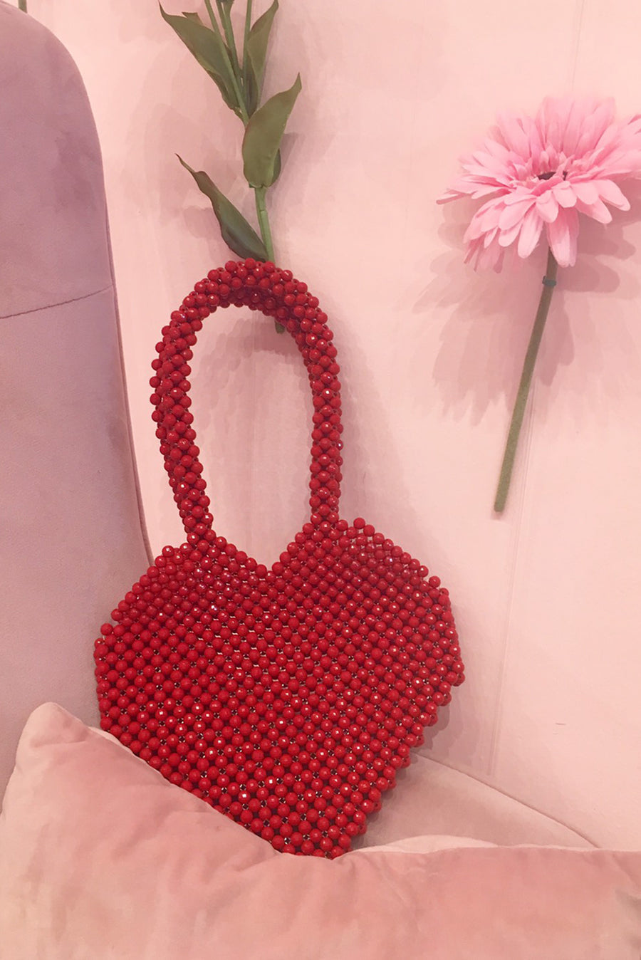 Love You Beaded Bag AIMEE