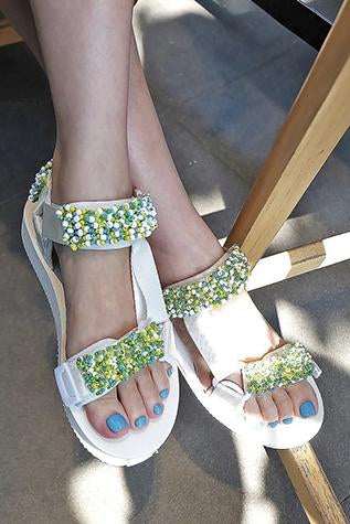 Summer Beaded Sandals Tina