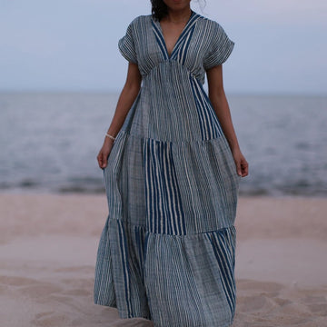 Indigo Cotton Dress Aimee