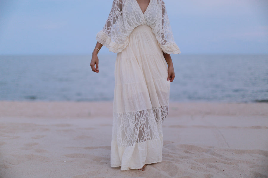 Kaftan Cotton Lace Dress Nuna