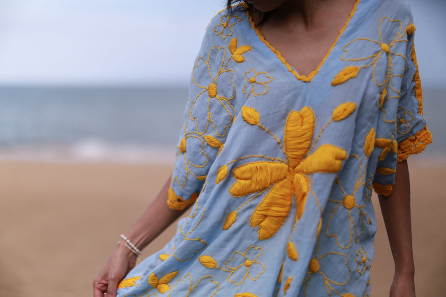 Embroidered Kaftan / Top Pia