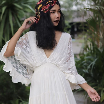 Bohemian Cotton Lace Dress Nuna