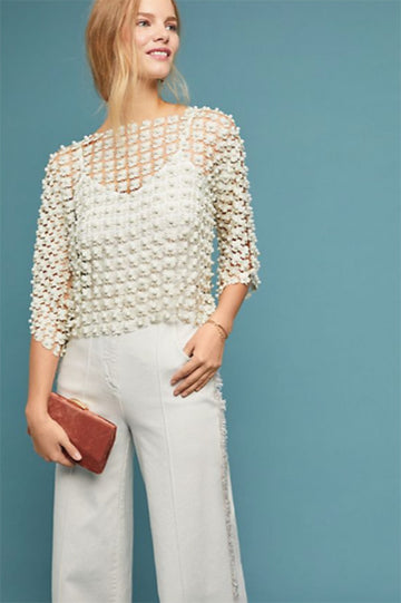 Summer Pearl Lace Top