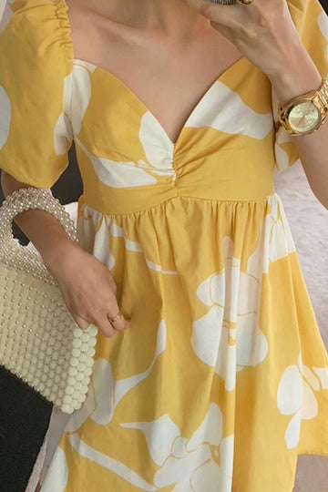 Yellow Summer Dress Jasmina