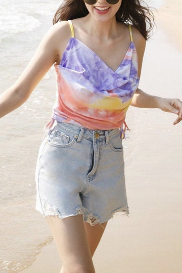 BY THE BEACH DENIM SHORTS MOMO NEW YORK