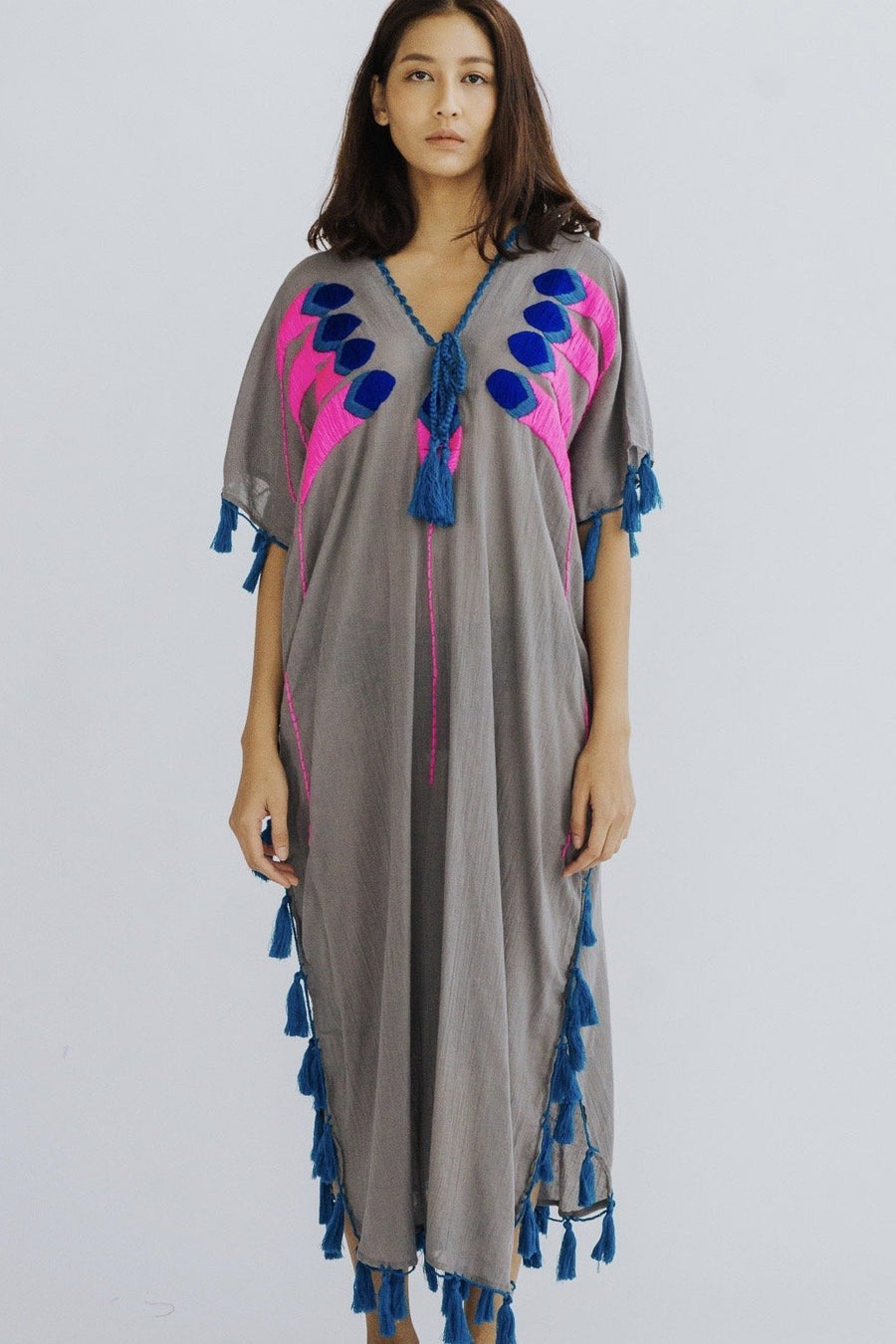 EMBROIDERED KAFTAN DRESS CORNELIA MOMO NEW YORK