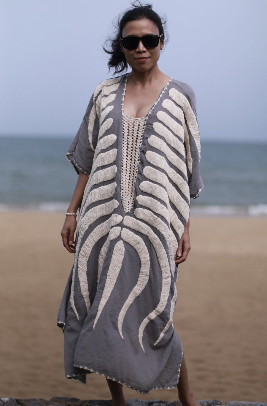 EMBROIDERED KAFTAN MARIE CLAIRE MOMO NEW YORK