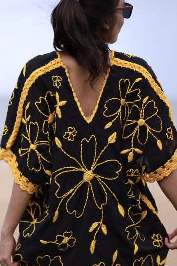 EMBROIDERED KAFTAN TOP NINA MOMO NEW YORK
