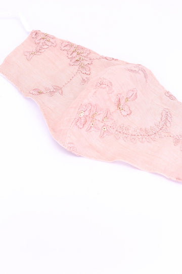 EMBROIDERED SILK COTTON FACE MASK AYRE MOMO NEW YORK