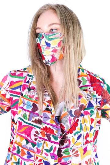 FACE MASK GIVA WITH JACKET FRIDA EMBROIDERED PATCHWORK MOMO NEW YORK