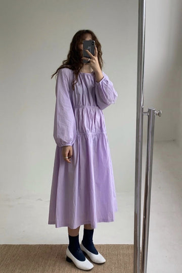 LILAC PLEATED DOLL DRESS LINDE