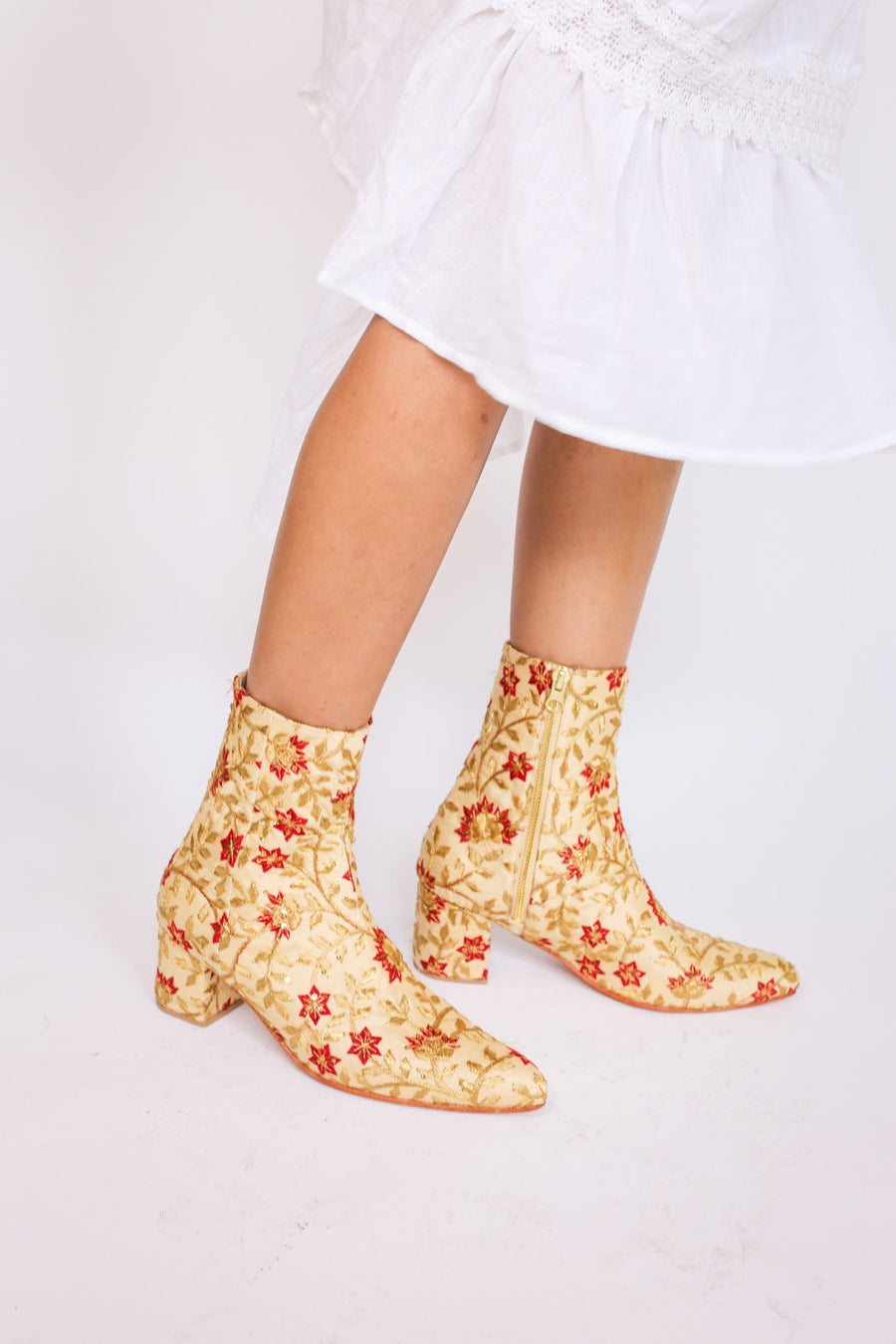 Silk Embroidered Boots Kate