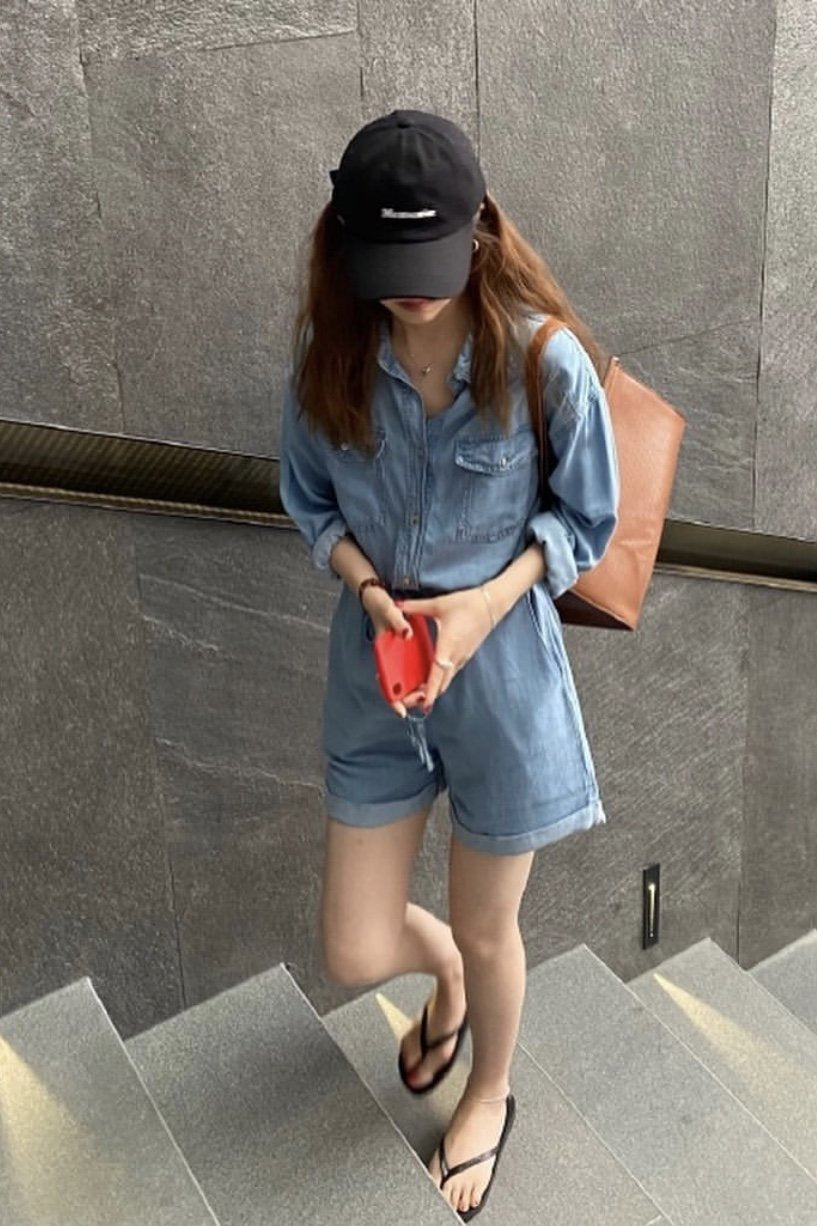 DENIM JUMPSUIT OLGA MOMO NEW YORK