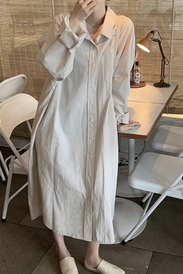 LAZY STAY AT HOME SHIRT DRESS NICOLE