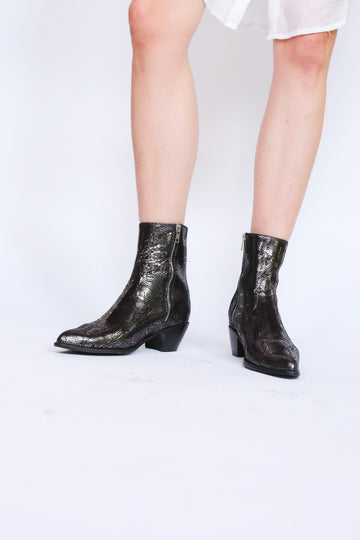 MOMO New York Free People Snake Skin Ankle Boots Liz Celina