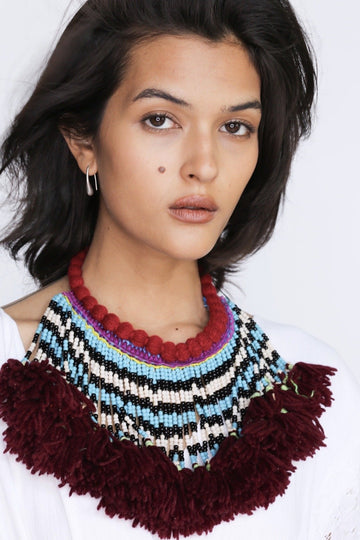 MOMONEWYORK MOMO FREE PEOPLE Tribal Tassel Necklace Amelie