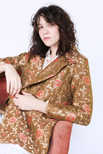 Jacket Frida in Flower Silk print